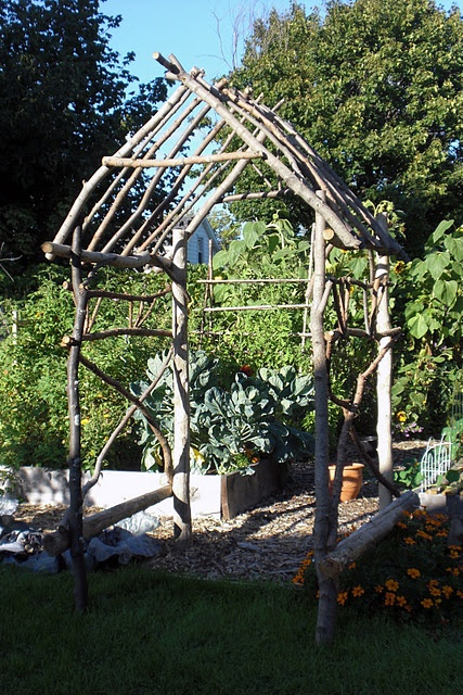 diy rustic arbor garden projects Pinterest