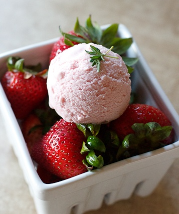 Peanut Butter & Dill Pickles: Roasted Strawberry & Thyme Ice Cream ...
