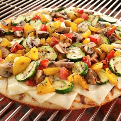 Grilled Vegetable Pizza- swap mushrooms for something else