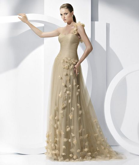 Gowns for brides over 50 gold wedding dresses for brides for Wedding dresses for second marriage over 40