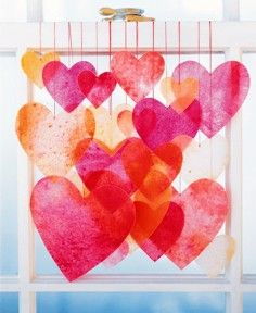 Repinned: Bright Garland Ideas for Valentines Day