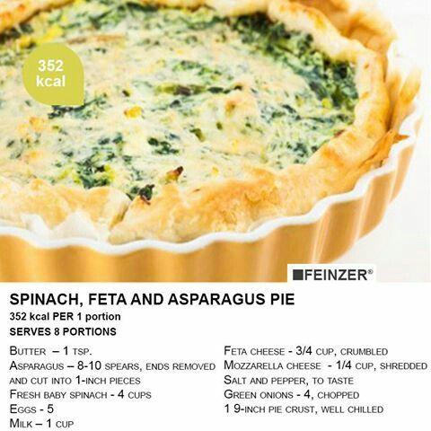 Spinach, feta and asparagus pie   Pies, Tartes & Q u i c h e s  …