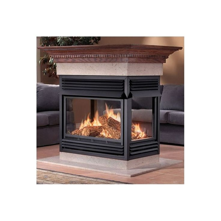 Island Vent Free Gas Fireplace Fireplaces Pinterest