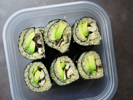 Quinoa Sushi. I must try.