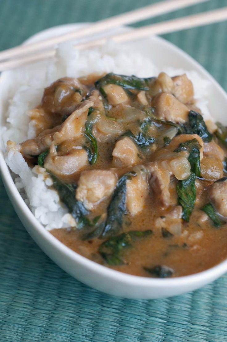 Thai Red Curry Chicken & Spinach from Delight Gluten Free Magazine