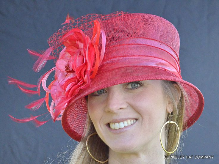 womens kentucky derby flower cloche hat