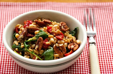 ... And Kale Salad With White Beans And Slow-Roasted (or Sun-Dried) Tomato
