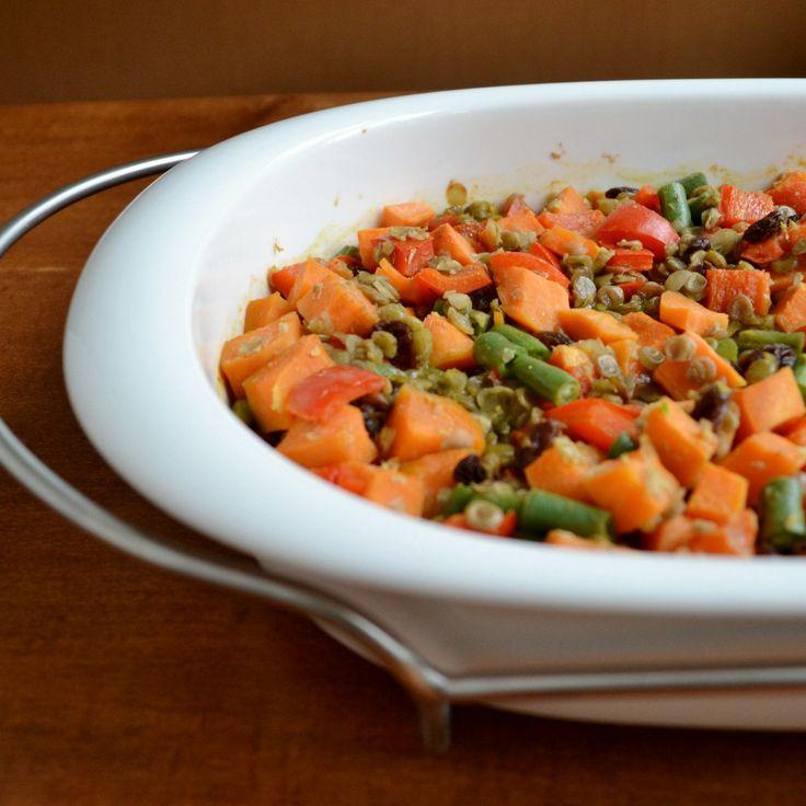 Lentil Sweet Potato Casserole || Vegan and Gluten-free. Very colorful ...