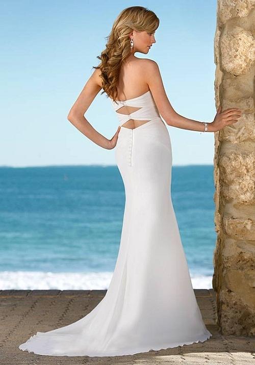 Tropical wedding dress my dream day pinterest for Tropical wedding bridesmaid dresses