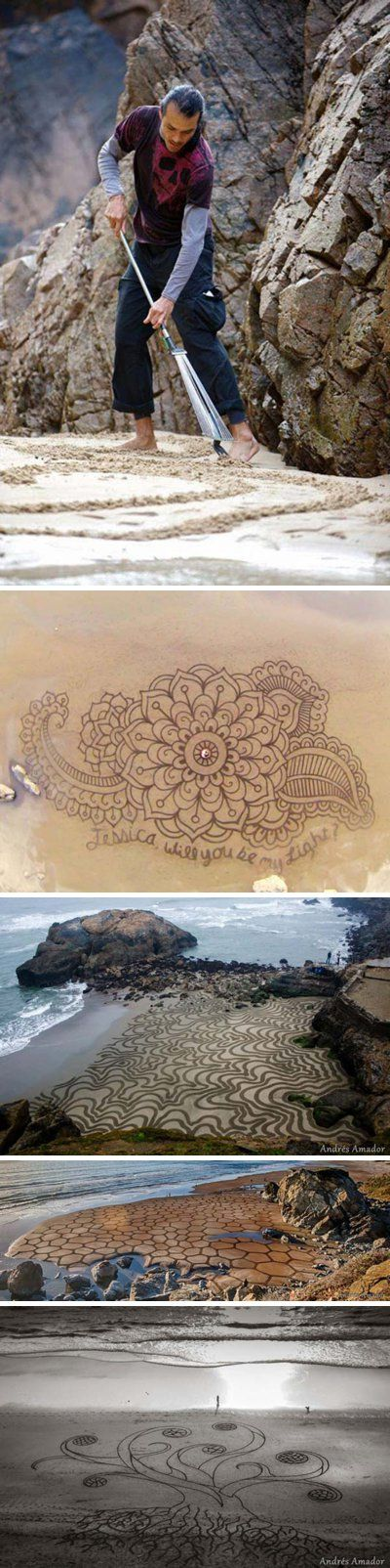 Beach art by Andres Amador *Wow, that's awesome.