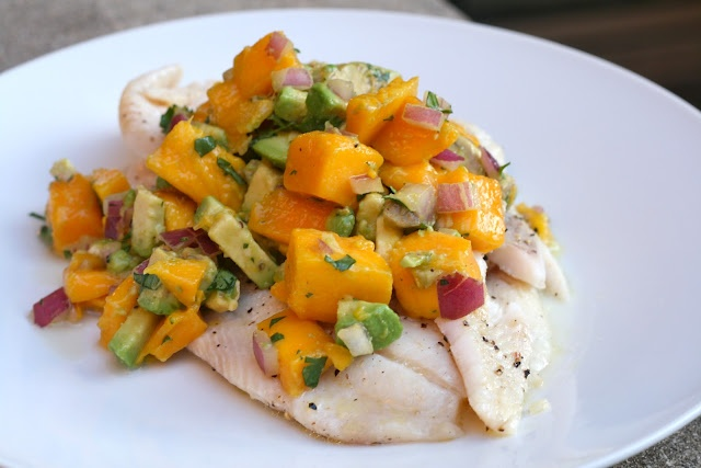 Grilled Tilapia with Mango Avocado Salsa | Paleo and Primal Recipes ...