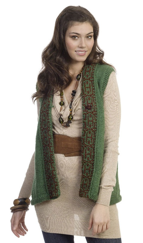 Caron international free simply soft 174 project on the trail vest