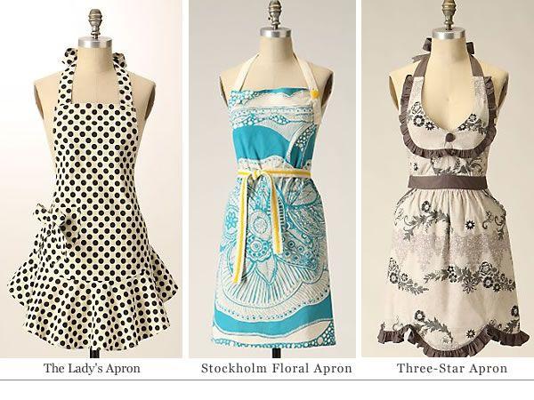 Jessica Steele's aprons (Anthropologie).