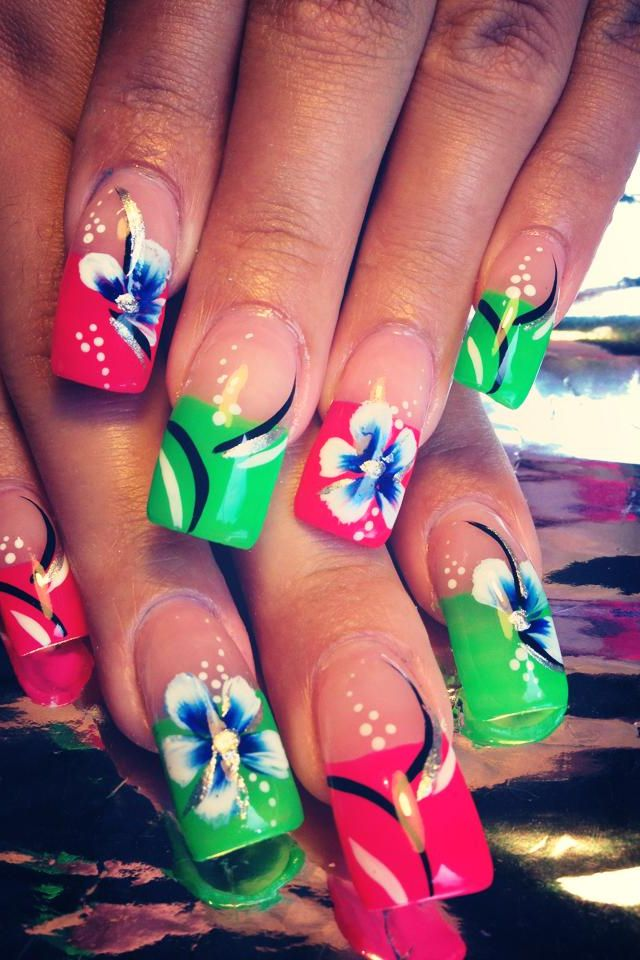 Acrylic nails by mari artistic expressions nails pinterest