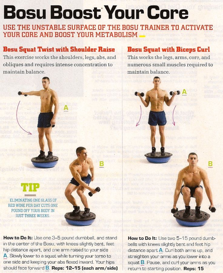 Bosu Ball Benefits: Bosu Ball Exercises Core Strengthening Pictures To Pin On