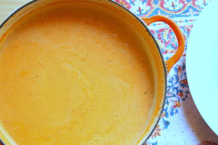 Creamy Tomato Soup thickened with homemade Cashew Cream. 100% vegan ...