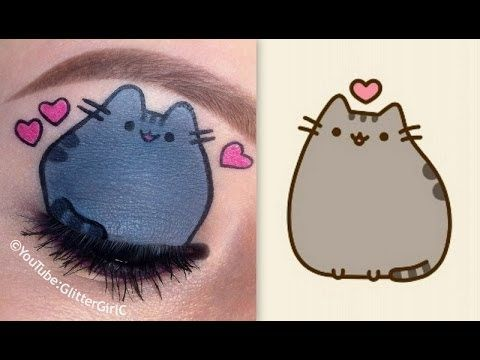 Pusheen the cat Makeup Tutorial | Eye makeup art | Pinterest