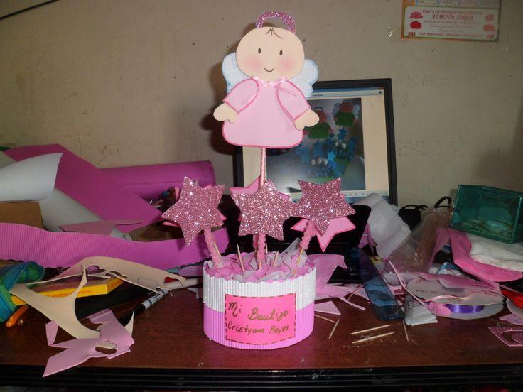 Decoracion de mesa para baby shower nina fiestaideas l mm - Decoracion baby shower nina ...
