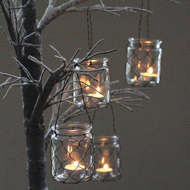 Four Hanging Tea Light Holders Oh You Pretty Things