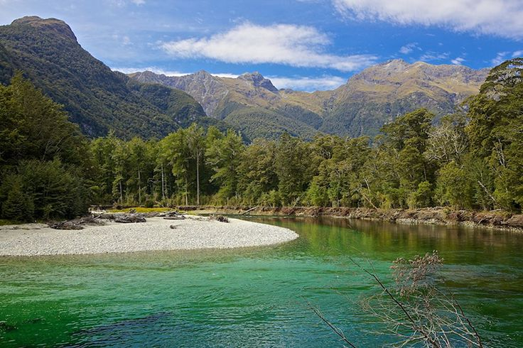 Clinton River Valleyon the Milford Track, New Zealand.
