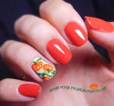 Pumpkin nails | Nail Art-Taylor | Pinterest