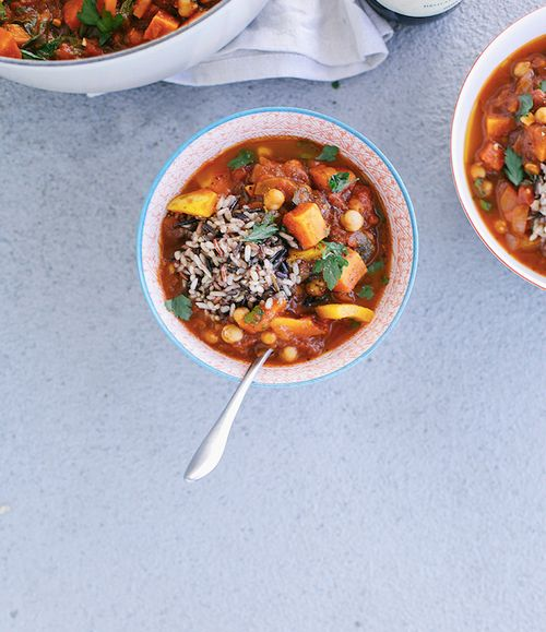 MOROCCAN-STYLE VEGETABLE AND CHICKPEA STEW   Soups/Stews   Pinterest