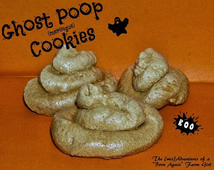 Ghost Poop (Meringue) Cookies