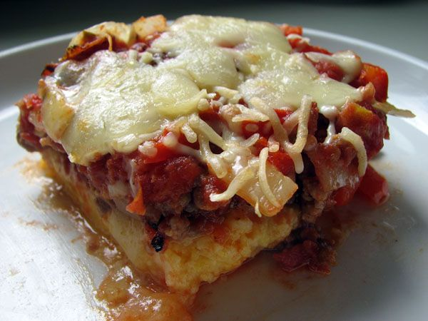 Polenta with Sausage and Mozzarella - I'm trying this today. Comfort ...