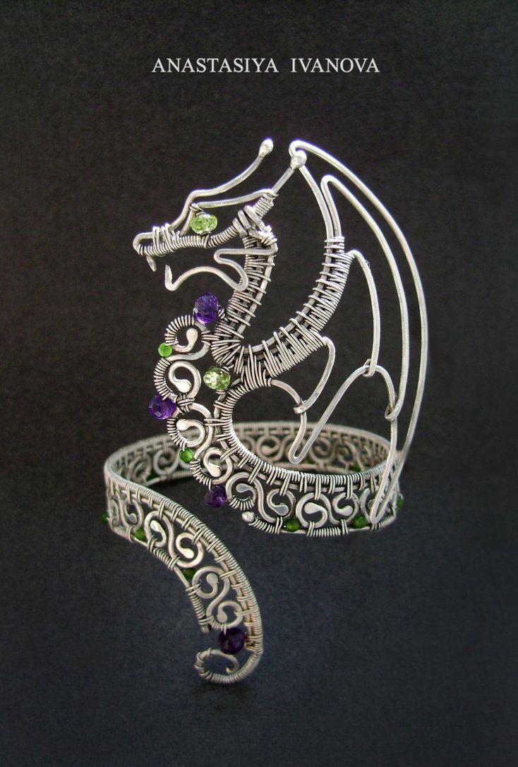 Дракон из серебра своими руками