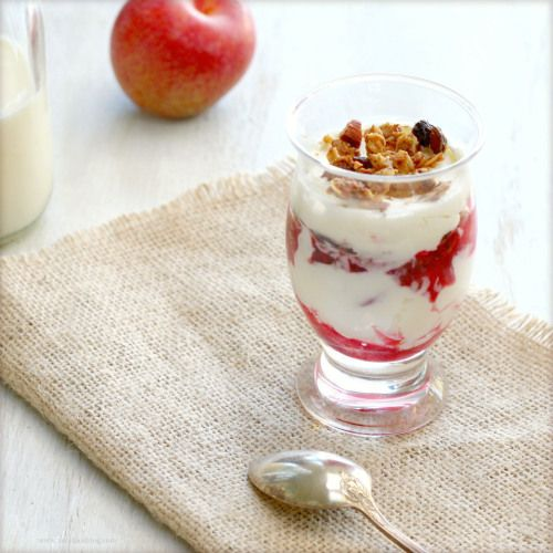 Yogurt, Plum, Granola Parfait | Breakfast Recipes | Pinterest