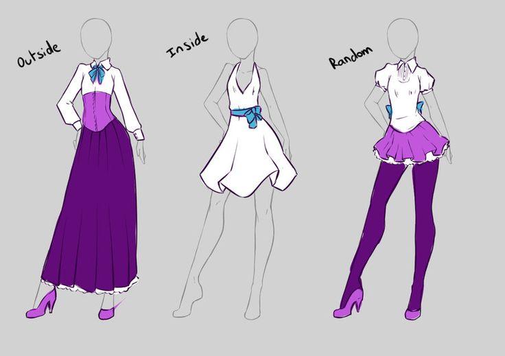 Как нарисовать костюм для девушки