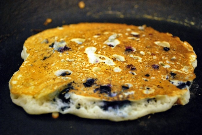 Lemon Blueberry Pancakes. Can make with whole wheat!
