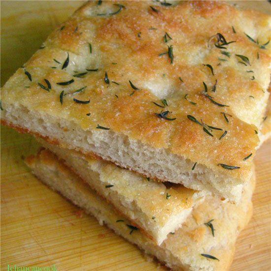 Easiest Focaccia Bread | Guyanese Food | Pinterest