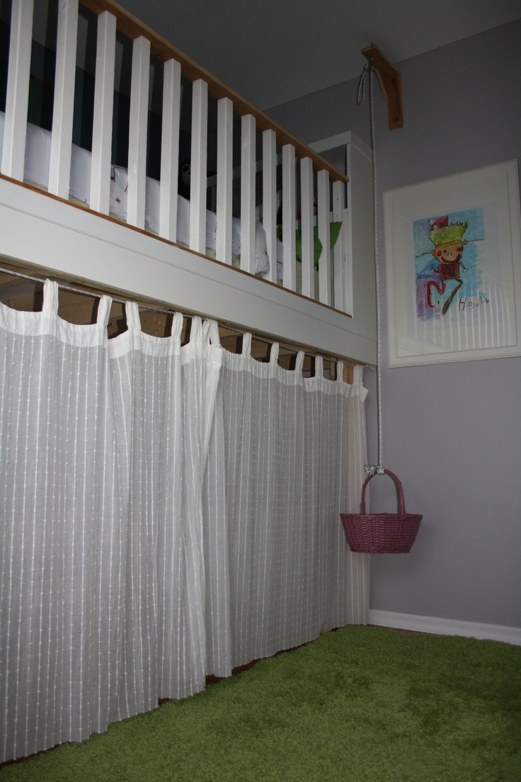Curtains For Under Loft Bed