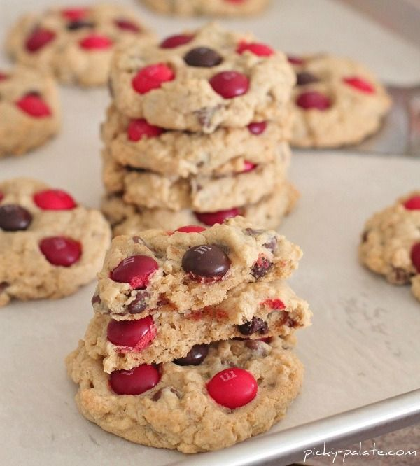 Cinnamon M&M Oatmeal Chocolate Chip Cookies - Picky Palate