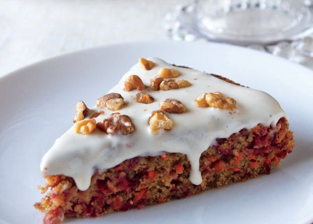 Cranberry-Carrot Cake (fresh cranberries, sugar, whole wheat pastry ...