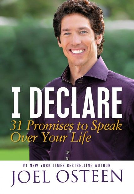 I Declare by Joel Osteen–31 daily inspirations by my favorite religious teacher. I Declare helps you to step into your greatness one day at a time with his short, inspirational and uplifting daily mantras, to manifest all you are meant to be. - See more at: http://tobifairley.com