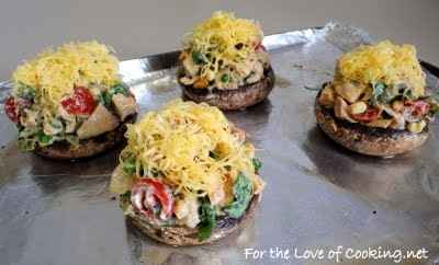 For the Love of Cooking » Southwestern Stuffed Portobello Mushrooms