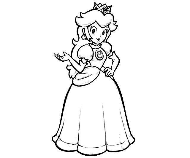 mario princess coloring pages - photo#4