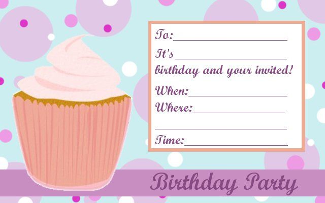 Girl Birthday Party Invitation Template – Party Invite Templates