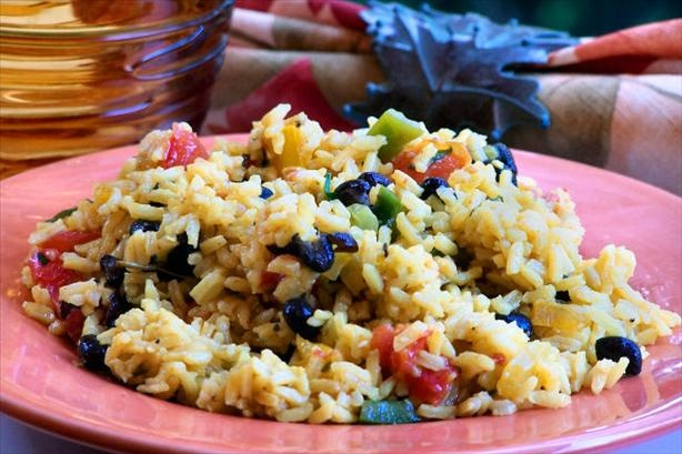 Black Bean & Yellow Rice Salad | Recipe