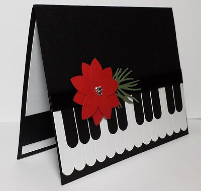 Christmas Piano Handmade Holiday Card KIT