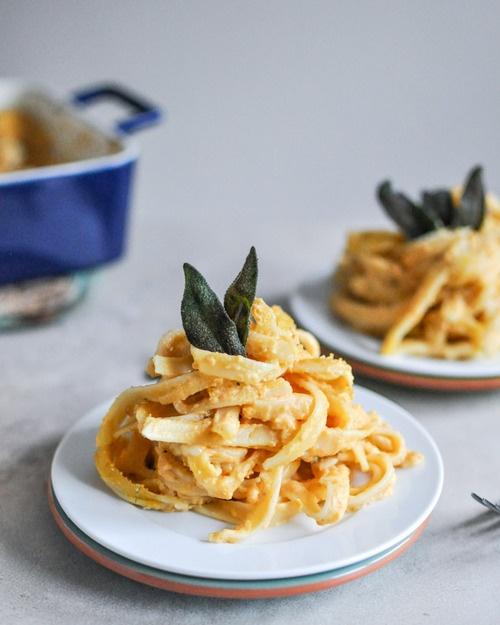 Baked Pumpkin Fettuccini Alfredo | if you're going to cheat.... | Pin ...