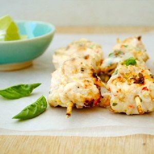 Lemon, basil and lime chicken skewers | Resepte | Pinterest