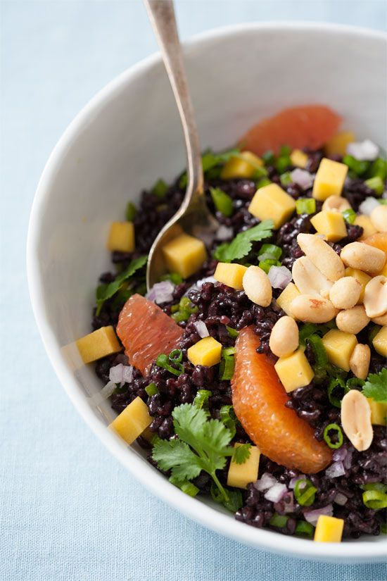 Black Rice Salad with Mango and Peanuts - Love and Olive Oil