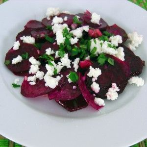 Shaved Beet Salad with Mint* and Feta *I skip the mint, but like to ...