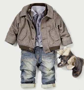 Zara clothing for babies such a cute little man outfit!