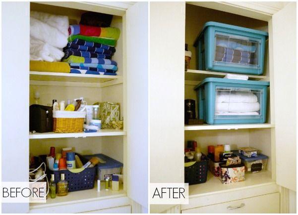 organize your bathroom cabinet