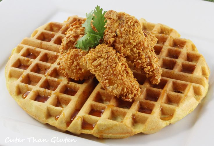 GF Waffles and Cornflake Chicken Nuggets | Food! Yummm | Pinterest