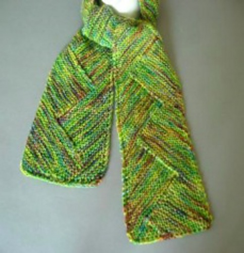 Crochet Scarf Patterns Zigzag : ArtYarns Zigzag Scarf Knitting Pattern Knitting Pinterest
